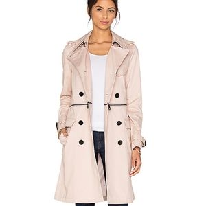 Rebecca Minkoff Melissa trench coat in nude pink